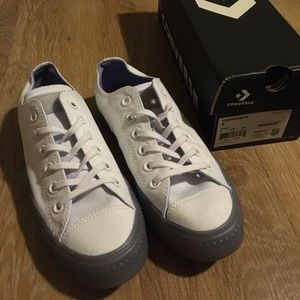 White Converse Purple Jelly Sneakers 7